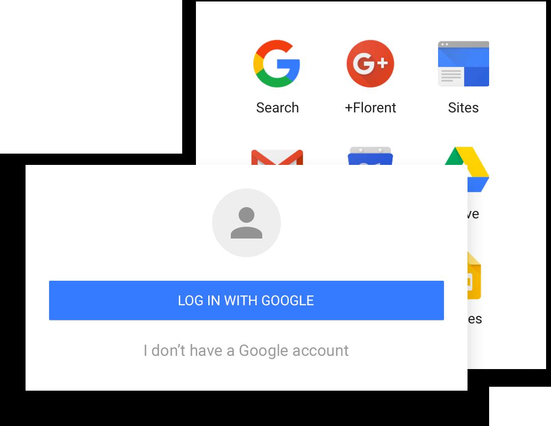Login dengan akun Google ke LumApps